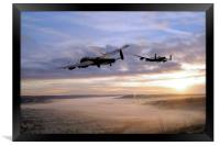 Lancasters Over The Valley , Framed Print
