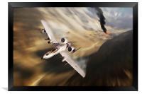 Warthog Canyon Strike, Framed Print