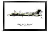 Vulcan Sketch - XM607, Framed Print