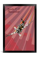 P-47 Thunderbolt Pop Art, Framed Print