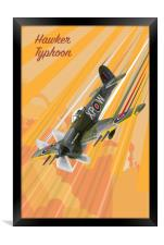 Hawker Typhoon Pop Art, Framed Print