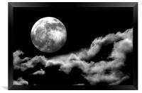 Full Moonshine, Framed Print