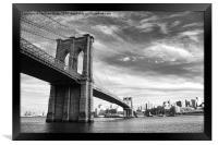 Brooklyn Bridge, Framed Print