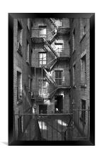 Tenement buildings I, Framed Print