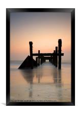Happisburgh-sunrise, Framed Print