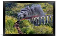 The Jacobite train, Framed Print