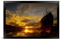 Loch Eil wreckship, Framed Print