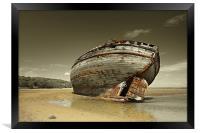 Dulas Bay shipwreck, Framed Print
