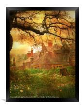The House on the Hill., Framed Print