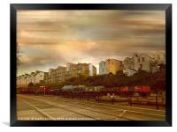 Dockside Train, Framed Print