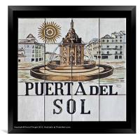 Puerta del Sol, Framed Print