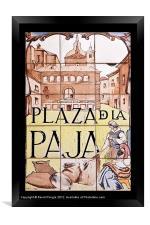 Plaza de la Paja, Framed Print