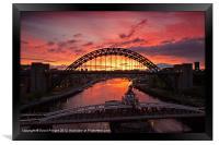 Tyne Bridge at Sunrise III, Framed Print