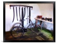 Antique Workshop, Framed Print