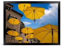 Umbrellas, Framed Print
