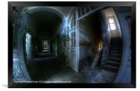 Hallway horrors., Framed Print