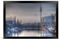 Four towers Berlin, Framed Print