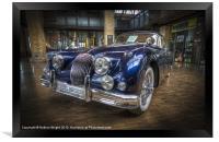Blue Jag, Framed Print