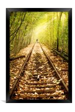 Light at the end of the line, Framed Print