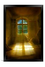 Hospital sun beam, Framed Print