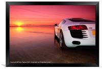 R8 on a beach - side view, Framed Print