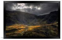 Cwm Idwal - Take a view, Framed Print