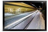 Train into station, Framed Print