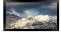 Crib goch on Snowdon, Framed Print