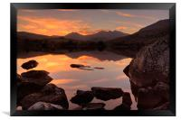 Snowdon sunset, Framed Print