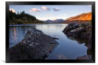 Mymbyr lakes with snowdon in the distance, Framed Print