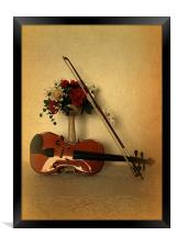 A Violin for Christmas, Framed Print