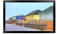 Fleetwood Beach Huts, Framed Print