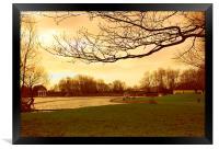 Winter in the Park , Framed Print