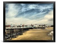 Pier from the Sea End., Framed Print