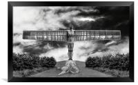 Angel in Black & White, Framed Print