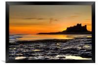 Bamburgh Beach at Sunrise, Framed Print