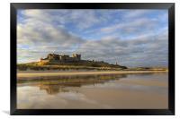 Bamburgh Castle Reflection, Framed Print