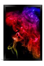 Smoke swirl3, Framed Print