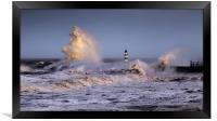 Seaham storm, Framed Print