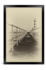 Amble Pier, Framed Print