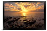 rocky sunrise, Framed Print
