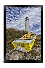 St Mary`s Lighthouse, Framed Print