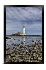 St Mary`s Lighthouse, Framed Print