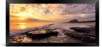 Bamburgh Sunrise Panaromic, Framed Print