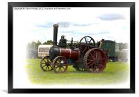 Steam Traction Engine, Framed Print