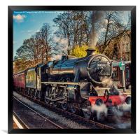 Steam on the Rails, Framed Print