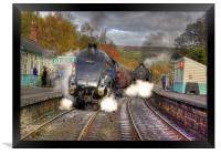 Steam at Grosmont, Framed Print