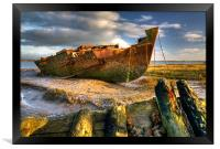 Shipwrecks on the River Wyre, Framed Print