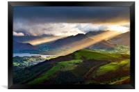 Sunrays Over Keswick, Framed Print