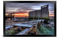 Sunrise At Skippool Creek, Framed Print